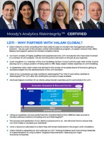 Advertisement for Valani Global LDTI Capabilities